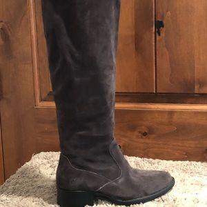Born Cricket Tall Suede Block Heel Boots